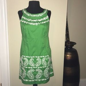 Lilly green embroidered dress